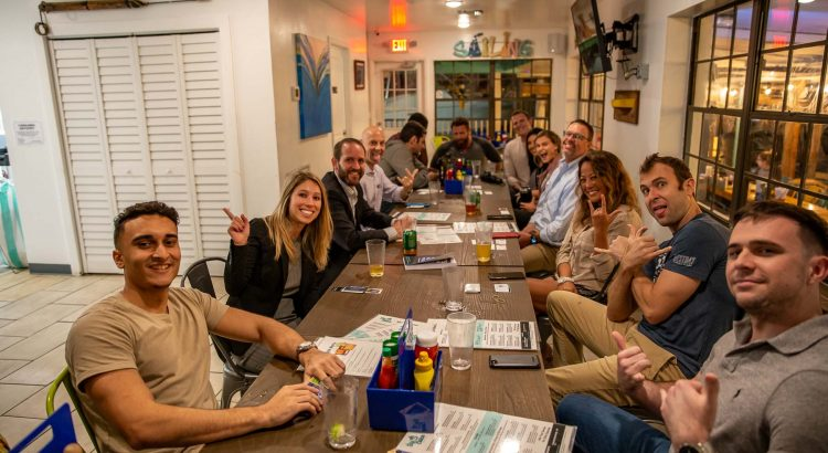 Entrepreneurs looking for that Big Catch during Entrepreneur Social Club Downtown St. Pete